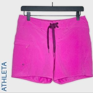 Athleta hot pink Clearwater board shorts